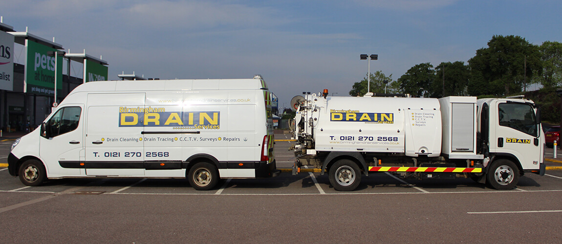 BIRMINGHAM DRAIN SERVICES VAN AND TANKER